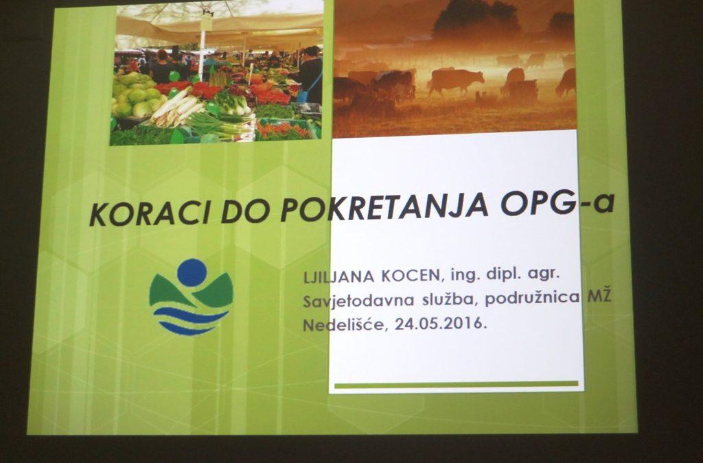 Predavanje za pokretanje OPG-a u sklopu Otvorenih vrata LAG-a