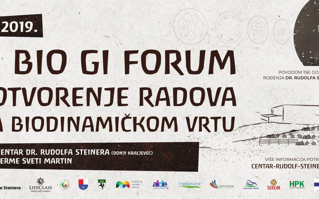 2. BIO GI forum i otvaranje radova na biodinamičkom vrtu